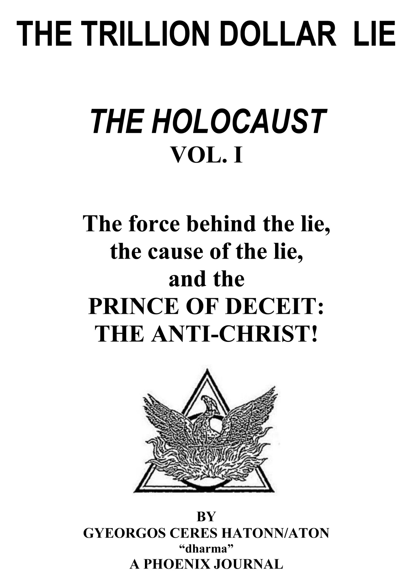 Image result for the trillion dollar lie the holocaust